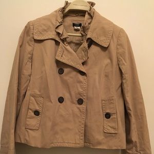 J Crew Women's Ruffled Trench Jacket | Size 6